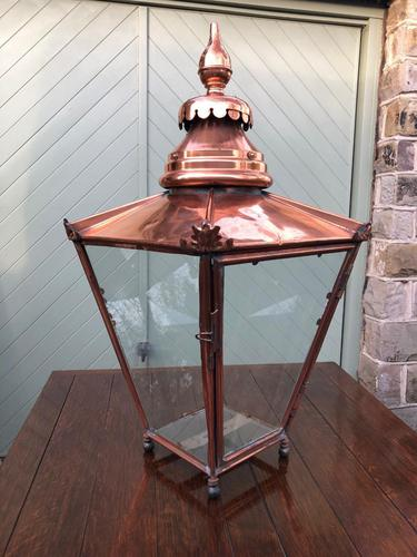 Antique Copper Glazed Lantern (1 of 8)