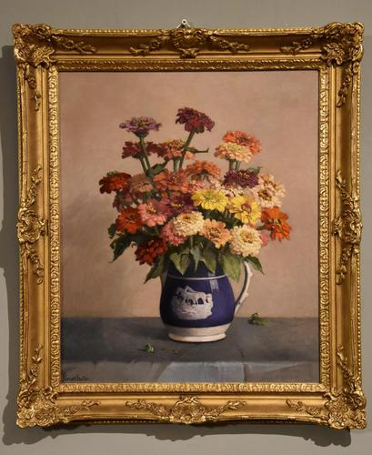 """Oil Painting by John Ernest Foster """"Summer Blooms"""" (1 of 7)"""