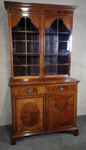 Edwardian Inlaid Mahogany Bookcase - (1 of 10)