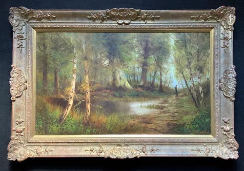 'John Williamson' Superb Woodland Landscape Oil Painting (1 of 11)