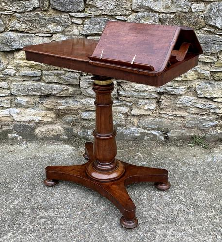 Victorian Mahogany Adjustable Duet Reading Stand (1 of 20)