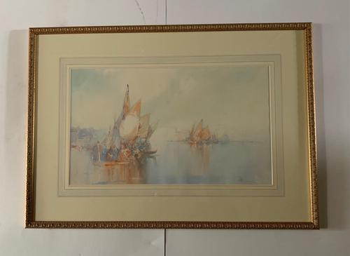 William Knox - Fine Watercolour Drawing of Grand Canal Venice (1 of 3)