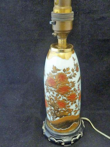 Excellent Japanese Meiji Period Lacquer on Porcelain Vase- Converted to a Lamp (1 of 7)