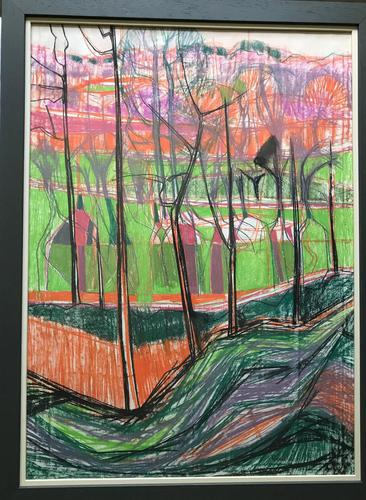 Original mixed media painting 'Autumn colours' by Norma Jameson. B.1933. Signed and dated 1970 (1 of 1)