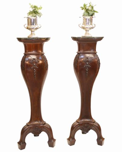 Pair of Gillows Pedestal Stands Carved Neo Classical Tables 1880 (1 of 13)