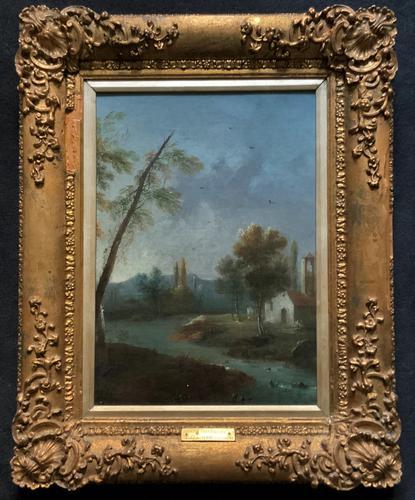**Near Inverary** 18th Century Thomas Gainsborough Period Landscape Oil Painting (1 of 13)