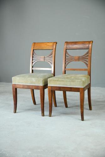 Pair of Biedermeier Side Chairs (1 of 9)