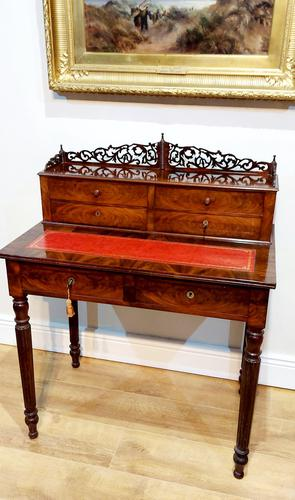 19th Century French Flame Mahogany Desk (1 of 6)