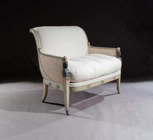 French 19th Century Original Paintwork Second Empire Marquise Loveseat Sofa (1 of 8)