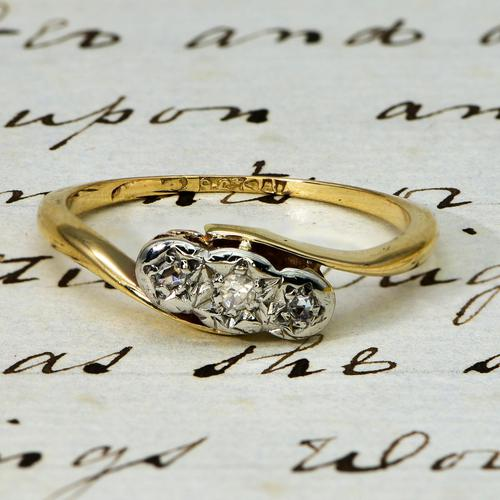 The Vintage Three Diamond 9ct Ring (1 of 3)