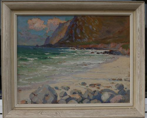 Cornish coastal landscape by H A Minton (1 of 6)