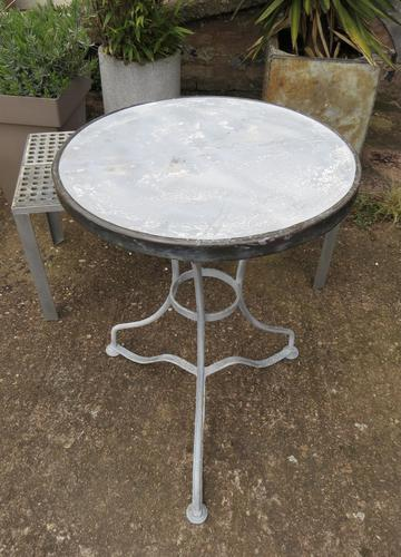 French Iron & Marble Bistro Table Mid 19th Century (1 of 12)