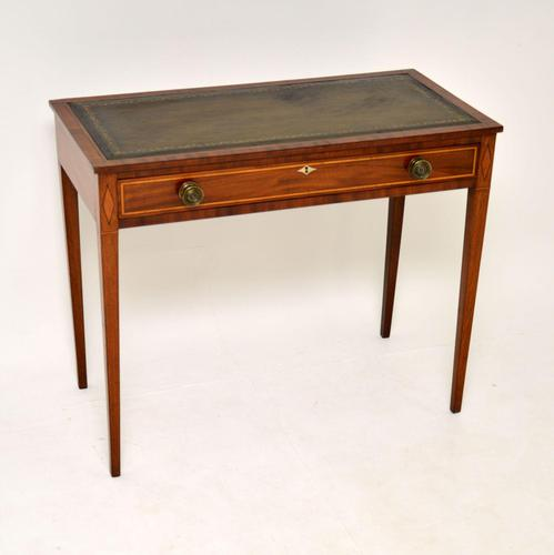 Antique Sheraton Period Inlaid Mahogany Writing Table Desk (1 of 11)