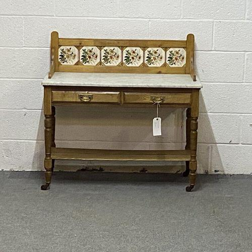 Edwardian Marble Top Washstand (1 of 6)