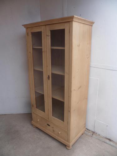 Victorian Antique Pine 2 Door Knockdown Display Cabinet to wax / paint (1 of 10)