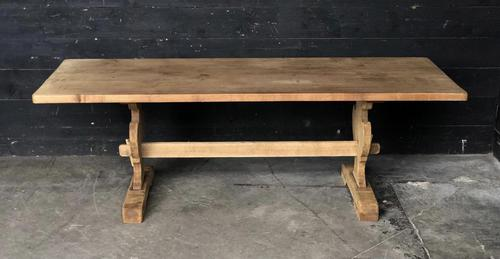 Trestle End Oak Farmhouse Dining Table (1 of 18)