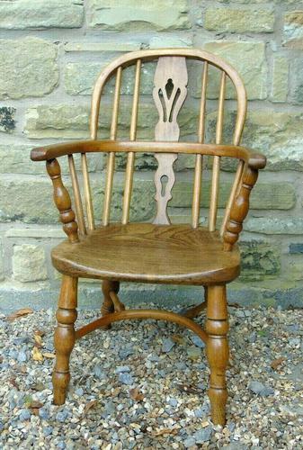 Child's Antique Oak Windsor Chair (1 of 9)