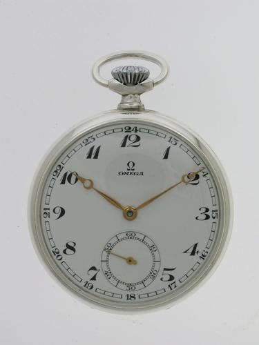 Omega Silver Open Face  Pocket Watch Swiss 1937 (1 of 6)