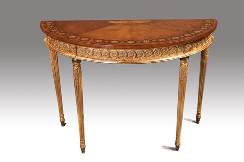 Fine Quality Early 20th Century Satinwood Pier Table (1 of 8)