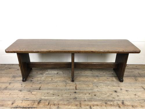 Arts & Crafts Style Oak Bench (1 of 10)
