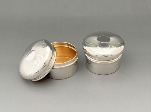 Rare Pair of His 'n' Hers Silver Gilt Pill Boxes (1 of 5)
