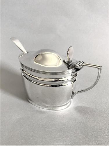 Handsome Victorian Mustard Pot & Spoon (1 of 7)