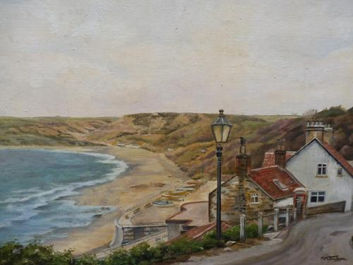 Oil on Canvas Cornish Seascape Artist M M Tomlinson (1 of 10)