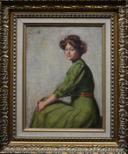 Armand Laureys b.1867 La Femme En Vert c.1900 (1 of 7)