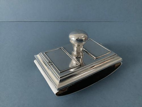Antique Silver Stamp Box and Blotter (1 of 5)