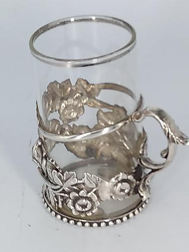 Silver & Glass Tea / Coffee Holder (1 of 4)