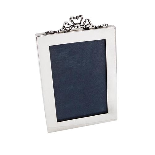 Antique Sterling Silver 'Bow / Ribbon' Photo Frame 1918 (1 of 8)