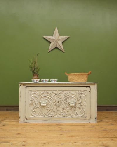 Antique Gustavian Style Window Chest Storage Seat with Carvings (1 of 13)