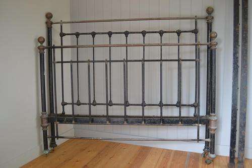 Antique Brass & Iron King Size 5ft Antique Bed Frame (1 of 13)
