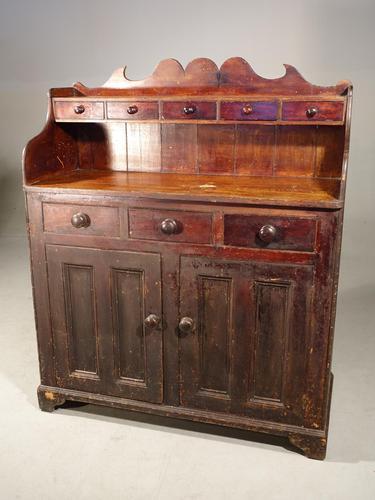 Unusual, Mid 19th Century, Pine Scottish Dresser (1 of 5)