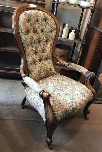 Nice Example of a Victorian Open Armchair (1 of 8)
