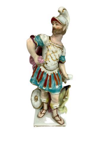 Porcelain Figurine as a Gladiator 1825 (1 of 7)