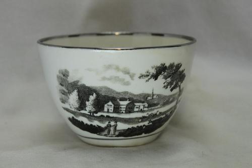 Rathbone Bat Printed Porcelain Cup c.1810 (1 of 4)