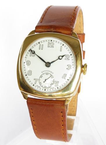 Gents 9ct Gold Longines Wrist Watch, 1945 (1 of 5)