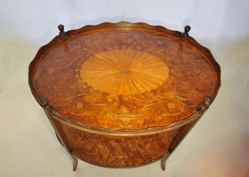 George III Two Tier Inlaid Mahogany Table (1 of 11)
