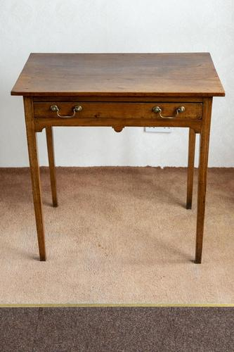 Wonderful Provincial Elm Side Table with Single Drawer (1 of 5)