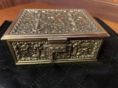 Erhard & Sohne Brass Table Casket (1 of 8)