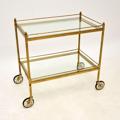 Vintage French Brass Drinks Trolley (1 of 10)