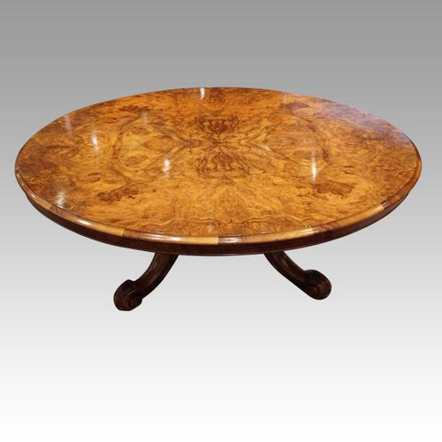 Victorian Large Walnut Coffee Table (1 of 10)
