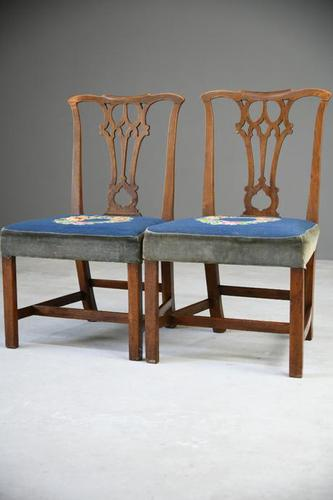 Pair of Chippendale Style Chairs (1 of 12)