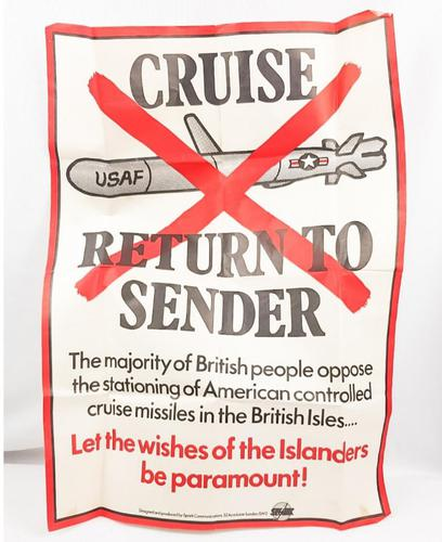 1950s Return to Sender Cruise Missle Poster (1 of 2)