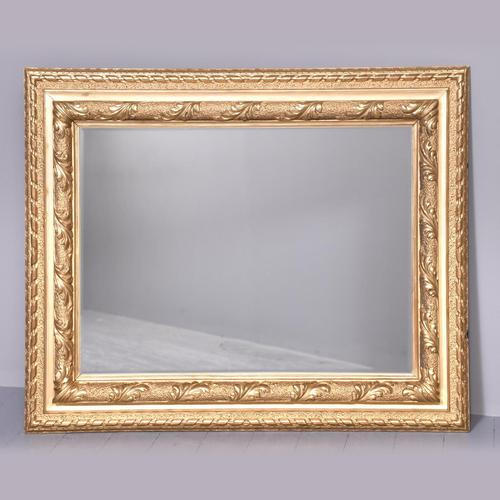 Victorian Carved Giltwood Rectangular Wall Mirror (1 of 6)