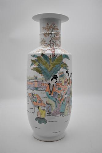 Chinese Famille Verte Porcelain Vase (1 of 7)