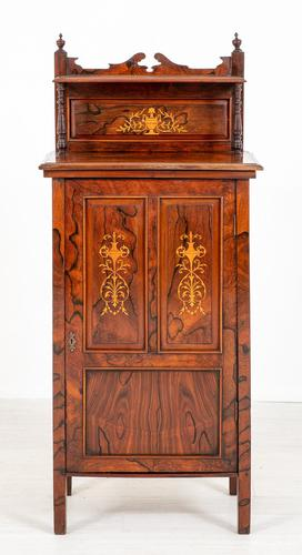Victorian Rosewood Inlaid Side Cabinet (1 of 6)