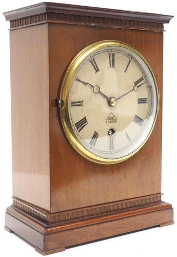 Superb Timepiece Mantle Clock -  Antique 8 Day Mahogany Dent Of London Carriage Mantel Clock (1 of 9)