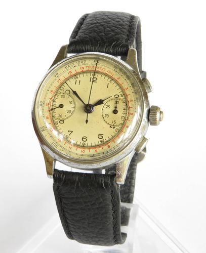 Gents 1930s Landeron Three-button Chronograph (1 of 5)